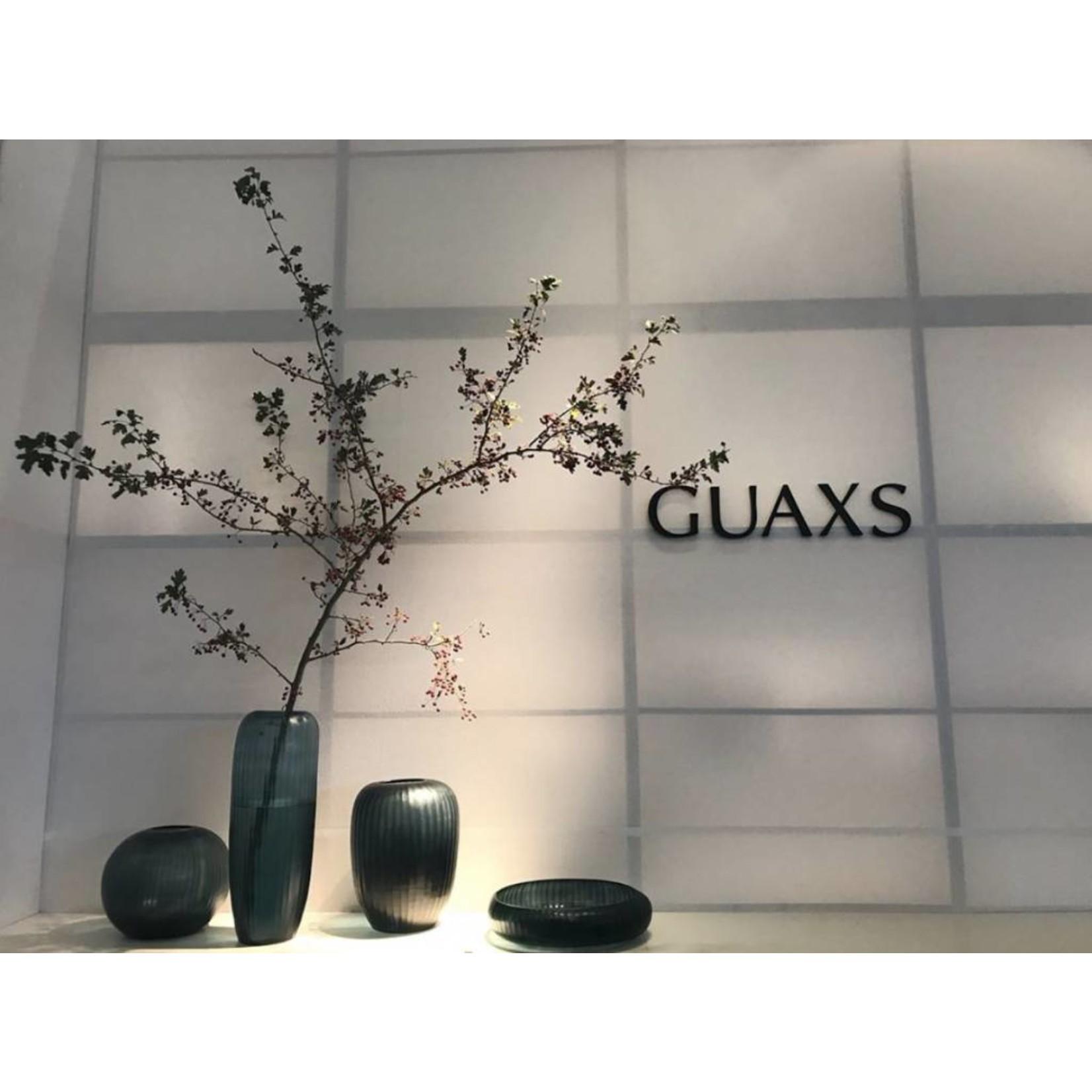 Guaxs Vase Gobi Round   Bleu océan / Indigo