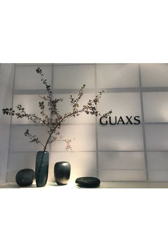 Guaxs Vase Gobi Round | Bleu océan / Indigo