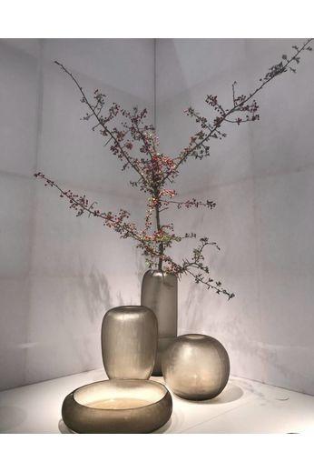 Guaxs Vase '' Gobi Round '' Smokegrey