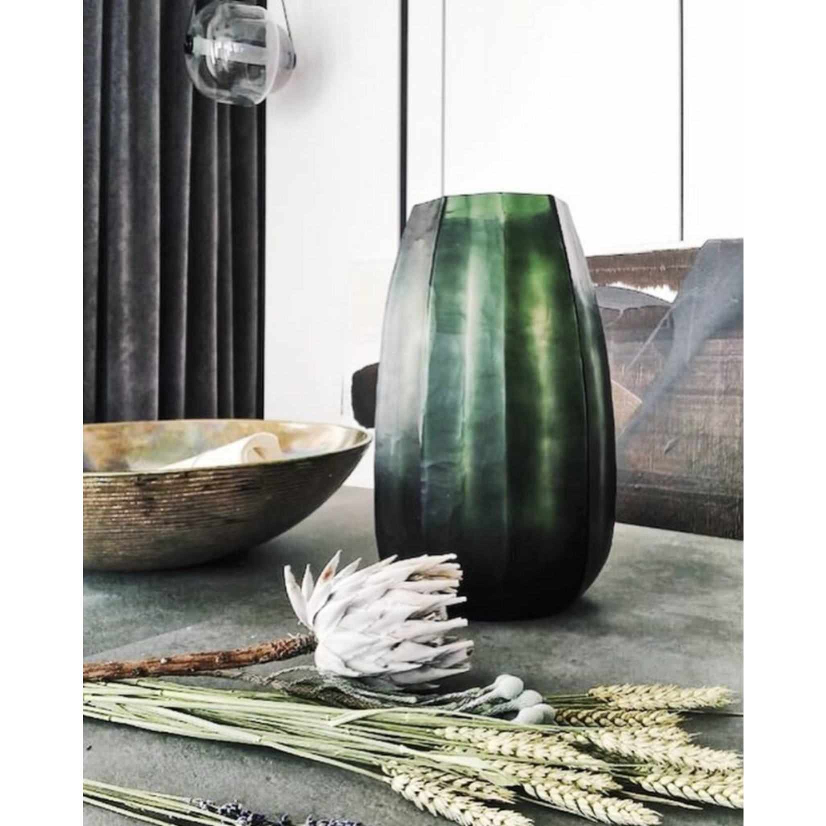 Guaxs Vase Koonam XL   Light Steel Gray / Black Steel Gray