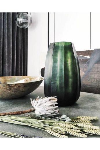 "Guaxs Vase "" Koonam XL "" Light Grey Steel / Black Steelgrey"