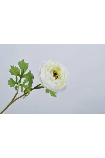 Silk-ka Tige de renoncule blanche 58 cm