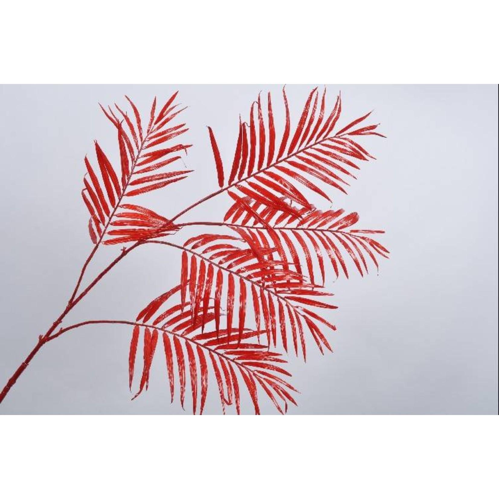 Silk-ka Leaf branch palm red 147 cm