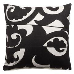 Pillow '' Mehmet '' White / Black 60 x 60 cm