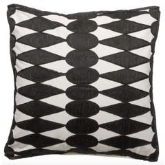 Coussin '' Iman '' Noir / Blanc 50 x 50 cm