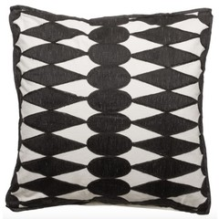 Cushion '' Iman '' Black / White 50 x 50 cm