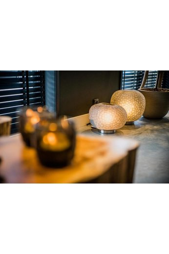Guaxs Lampe à poser Erbse 1 | Clair / Smokegrey