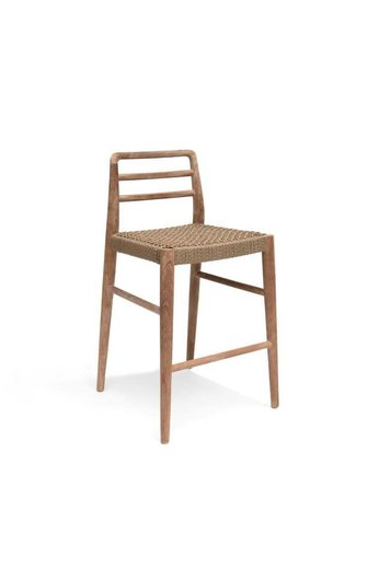 Gommaire Bar Chair Jared | Teak Natural Grey & PE Wicker Antique Weed