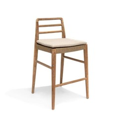 Gommaire Jared Bar Stool - Teak natural gray & PE wicker