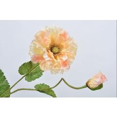 Silk-ka Poppy branch peach 70 cm