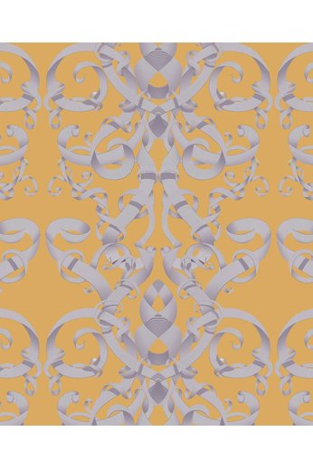 Kit Miles Optical Damask | Golden Sand