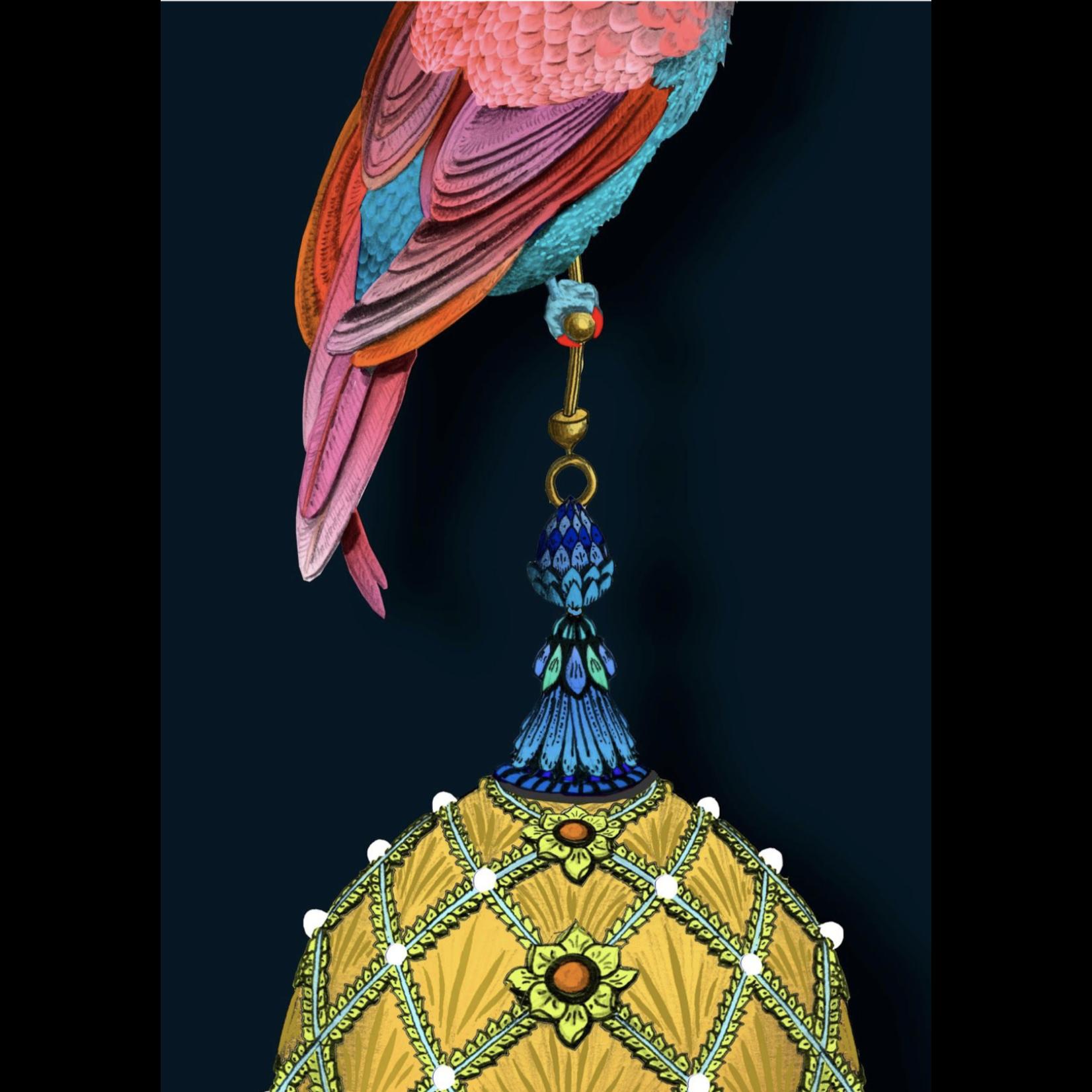 Kit Miles Pendentifs et oiseaux d'ornement   Magenta et sarcelle