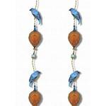 Kit Miles Pendentifs et oiseaux d'ornement   Cobalt Blues & Orange Brûlée