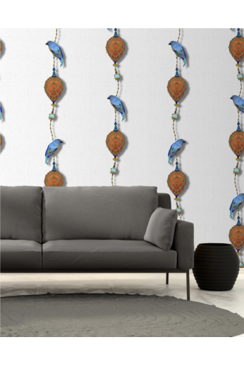 Kit Miles Pendants and Ornamental Birds | Cobalt Blues & Burnt Orange