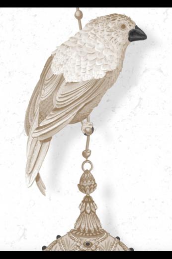 Kit Miles Pendentifs et oiseaux d'ornement | Pierre