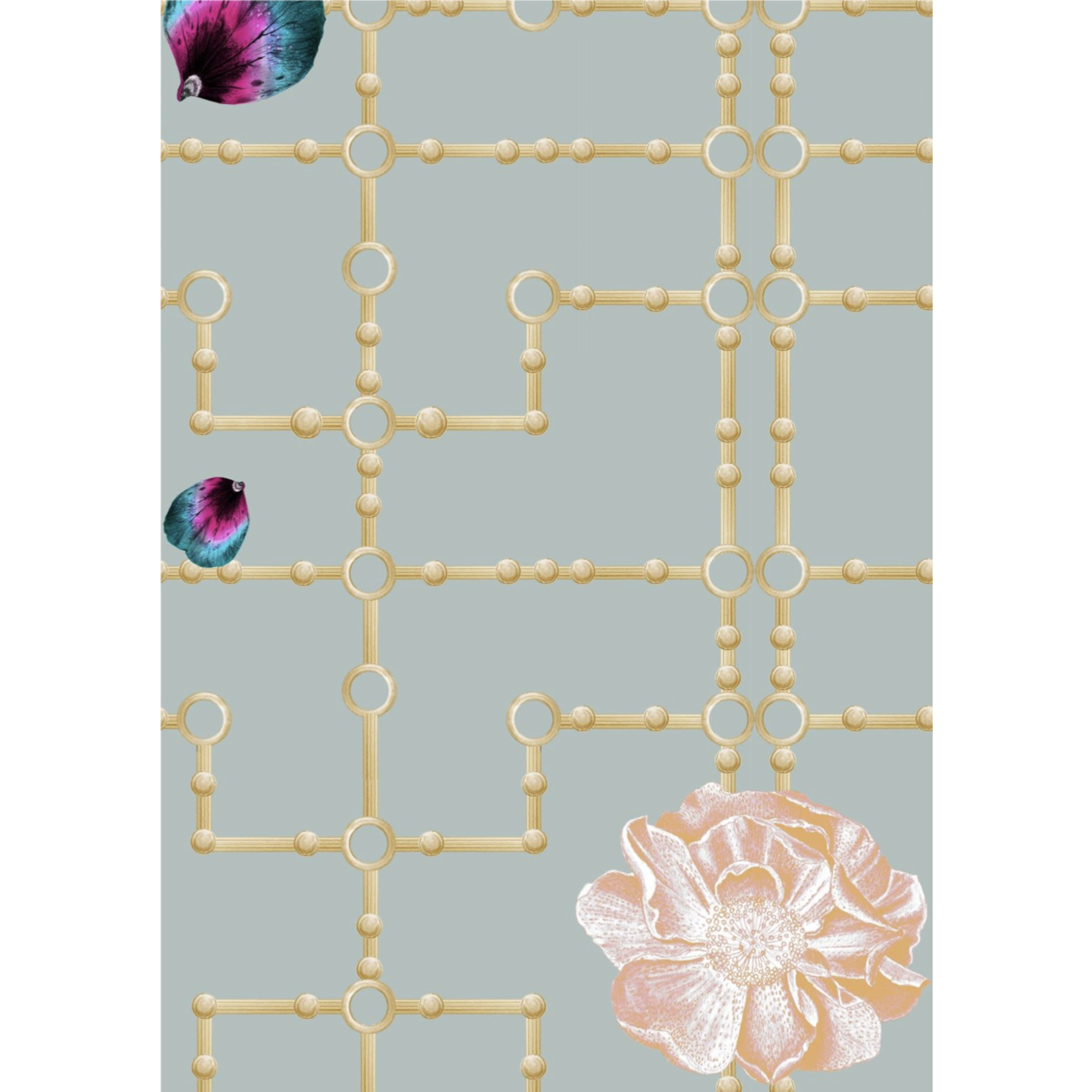 Kit Miles Quinn Orchid | Sage / Pink