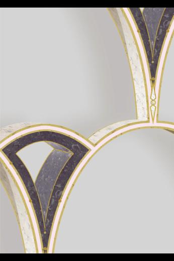 Kit Miles Tiber Archways | Plum over Light Pink