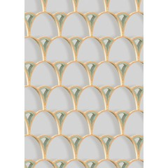 Kit Miles Tiber Archways | Peach with Emerald Green