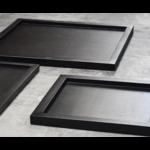 Black tray 60 x 30 cm