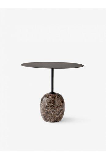 &Tradition Side table Lato LN9   Warm black & Emperador marble