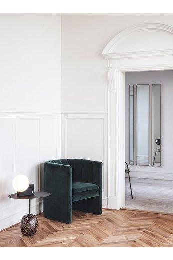 &Tradition Table d'appoint Lato LN9 | Chaleur noir et marbre Emperador