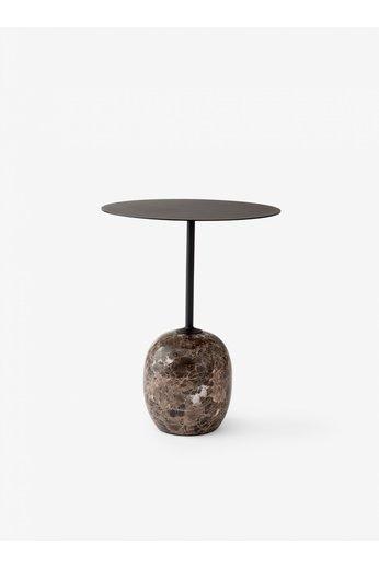 &Tradition Table d'appoint Lato LN8 | Marbre noir chaud et Emperador