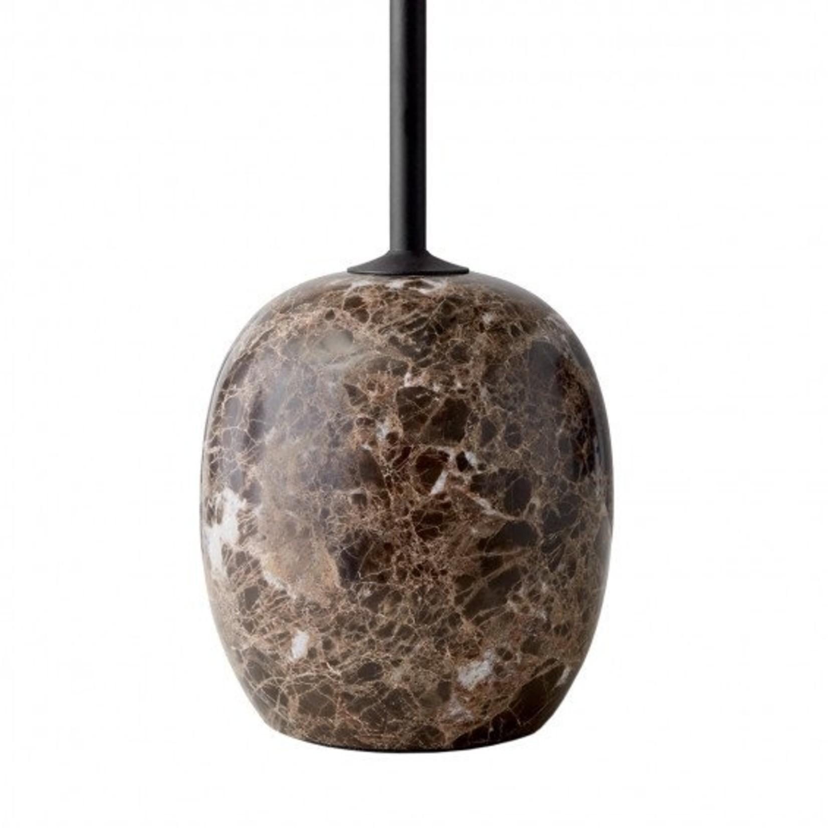 &Tradition Side table Lato LN8   Warm Black & Emperador Marble