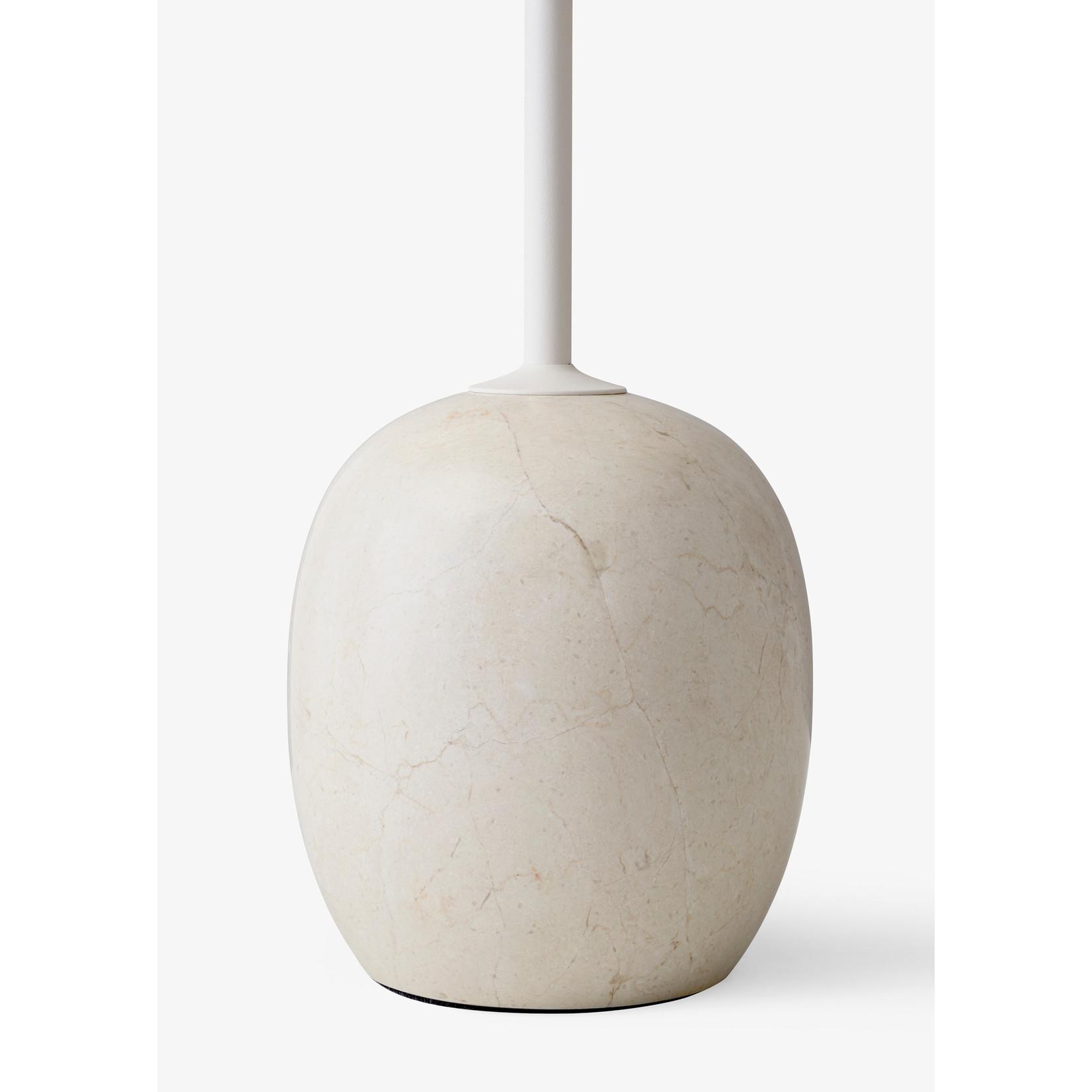 &Tradition Table d'appoint Lato LN8 | Blanc ivoire et marbre Crema Diva