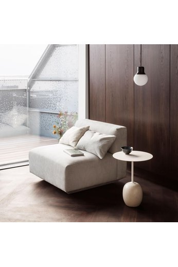 &Tradition Side table Lato LN8   Ivory white & Crema Diva marble