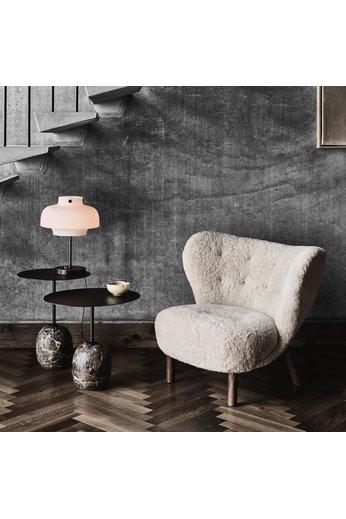 &Tradition Side table Lato LN8 | Warm Black & Emperador Marble