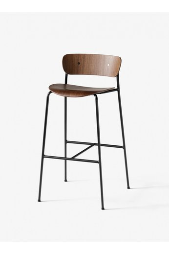 &Tradition Pavilion AV9 tabouret de bar 75 cm | Noyer Laqué