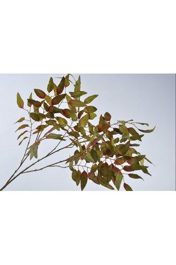 Silk-ka Leaf branch maple green / mauve 163 cm