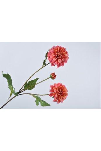 Branche de dahlia rose 56 cm