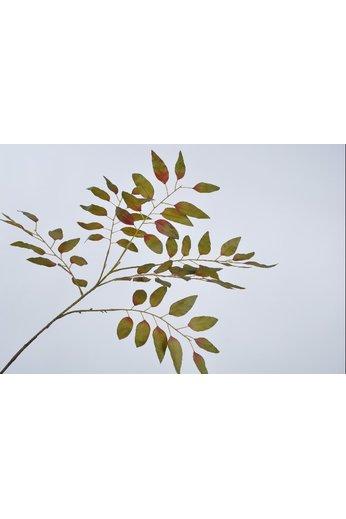 Silk-ka Branche de feuille verte 99 cm
