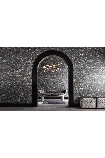Zinc Cazenove Wallcoverings | Maurier Wallcovering Charcoal