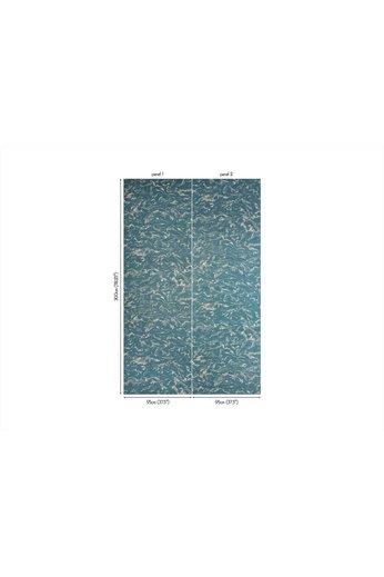 Zinc Revêtements muraux Cazenove | Maurier Revêtement Mural Cerulean