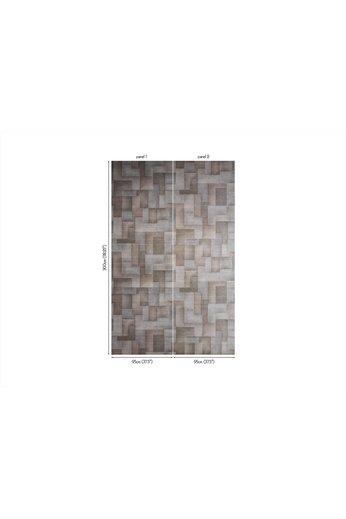 Zinc Revêtements muraux Cazenove | Revêtement mural Colby Graphite