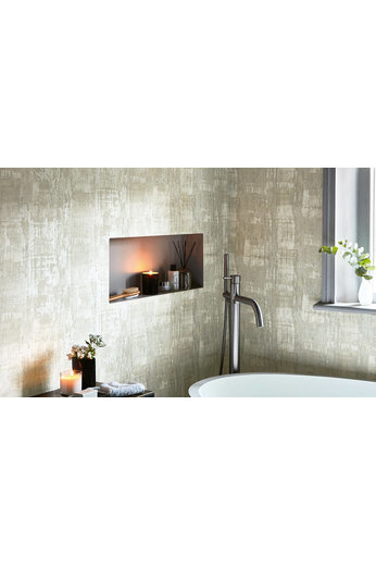 Zinc Renzo Wallcoverings | Anta Wallcovering Pumice