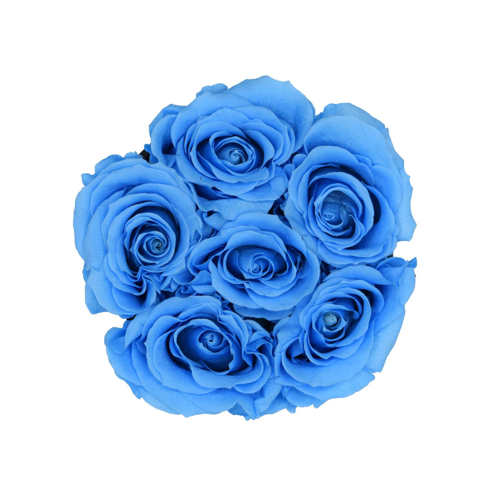Mini - Blue Endless Roses - White Box