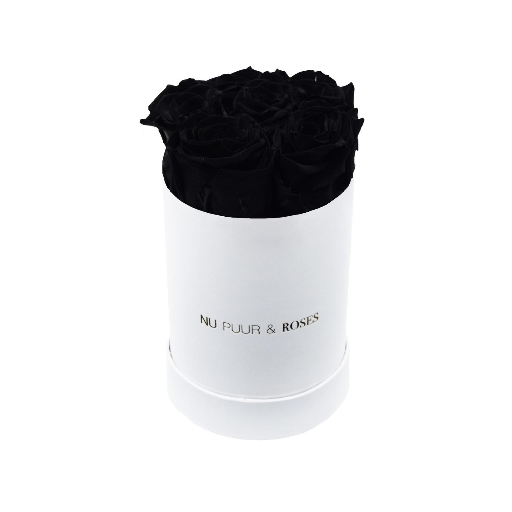 Mini - Black Endless Roses - White Box