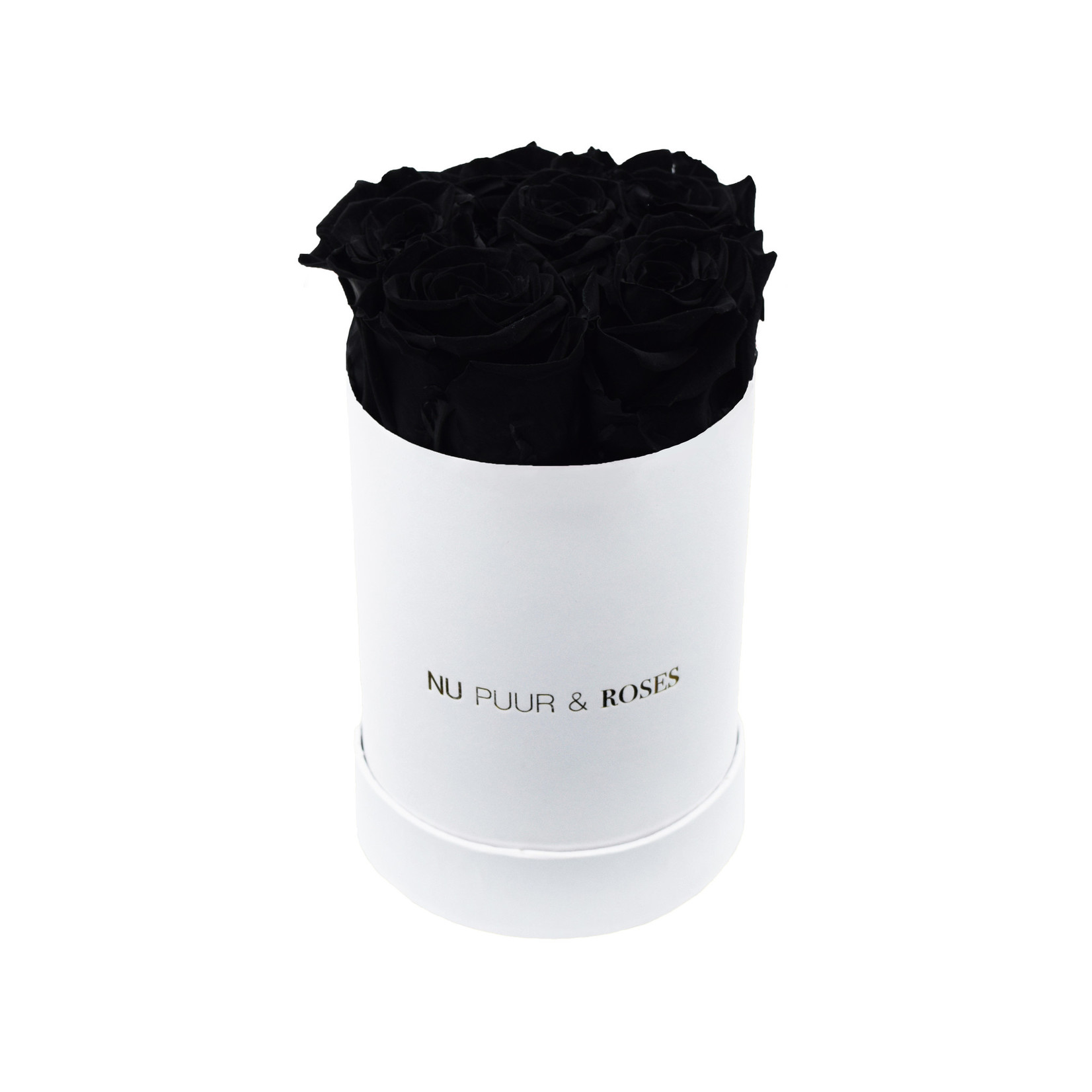 Mini - Roses Éternel Noir - Boîte Blanche