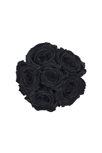 Mini - Black Endless Roses - White Box