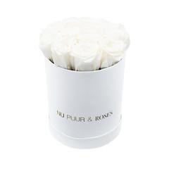 Small - White Endless Roses - White Box