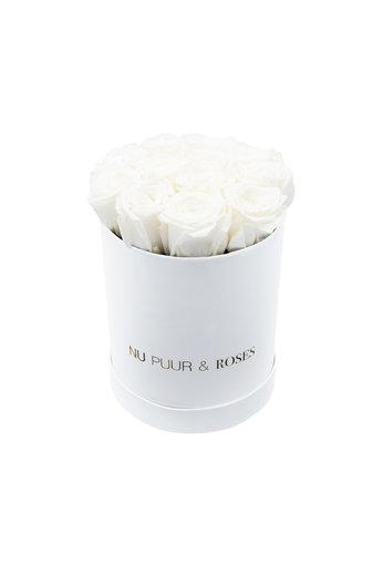 Mini - Roses Éternel Blanches - Boîte Blanche