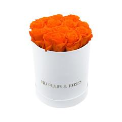 Small - Roses Éternel Orange - Boîte Blanche