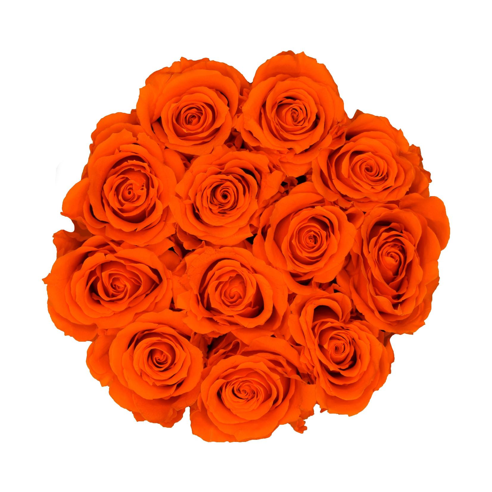 Small - Orange Endless Roses - White Box