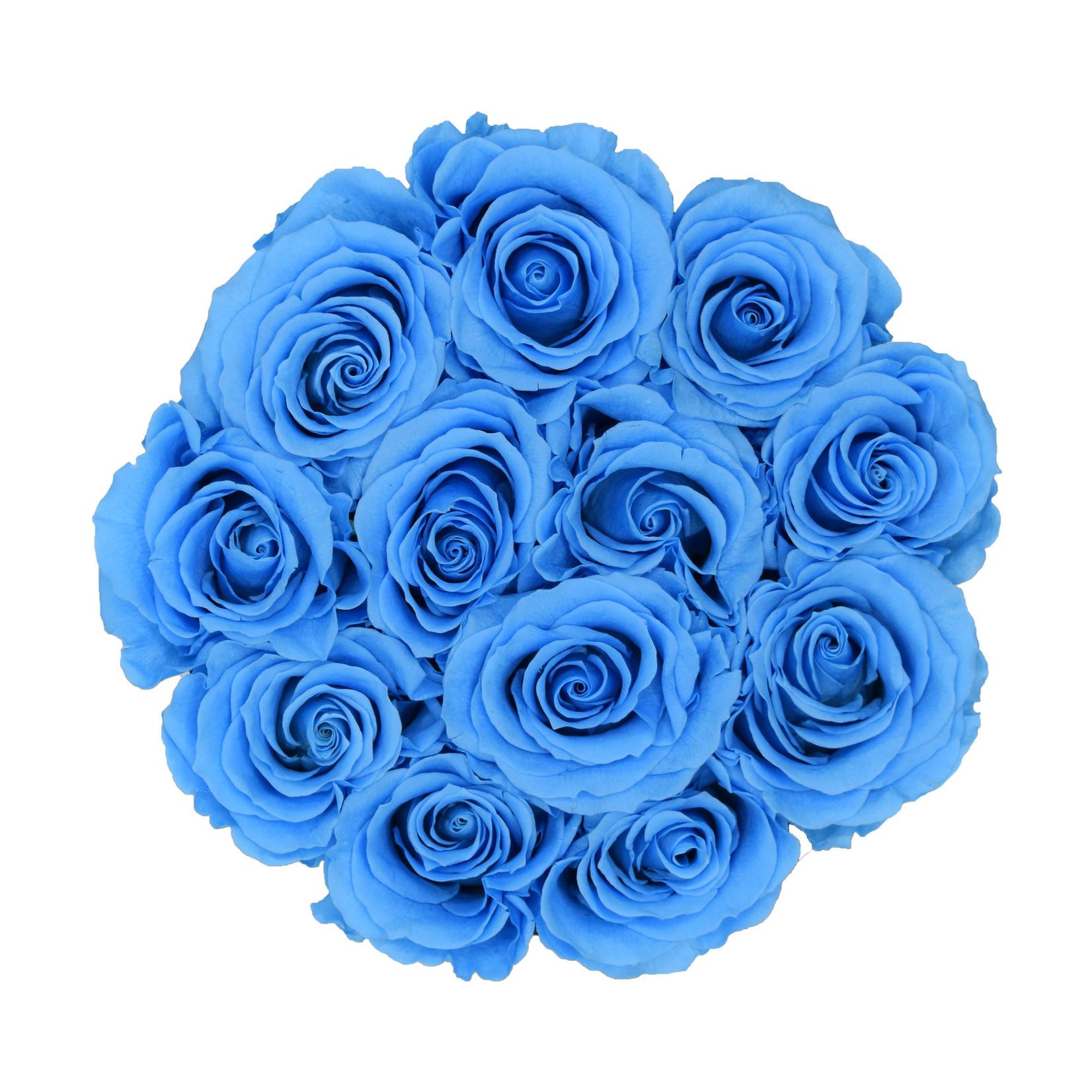 Small - Roses Éternel Bleu - Boîte Blanche