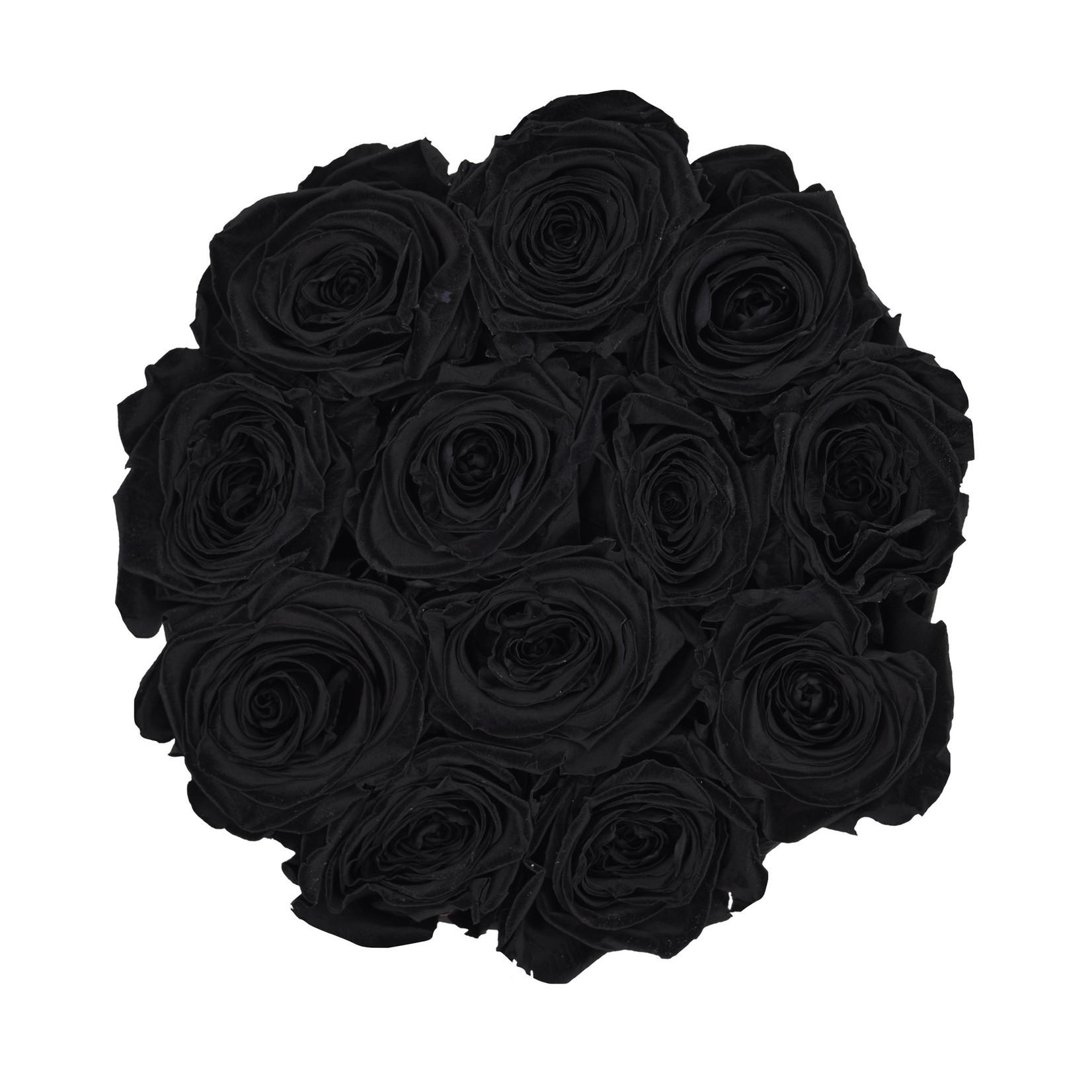 Small - Black Endless Roses - White Box