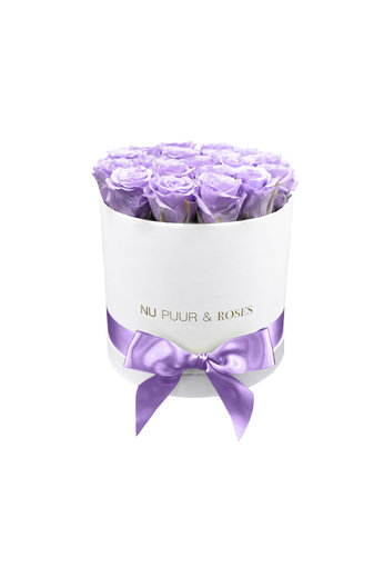 Medium - Lilac Endless Roses - White Box