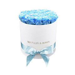 Medium - Blue Endless Roses - White Box